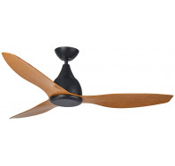 "Martec Vantage DC Matt Black 1300mm 52"" with 3 Bamboo Colour Blades Ceiling Fan & Remote"