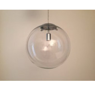 Fiorentino Nocati 1L Clear Glass Pendant Chrome Suspension