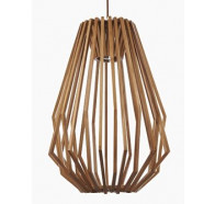 Fiorentino Ragusa Long 1L Veneer Pendant Lights