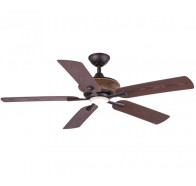 """Hunter Pacific Majestic ReZin 52"""" Oriental Indoor/Outdoor Polymer 5 Blade Ceiling Fan with 17W LED Light"""