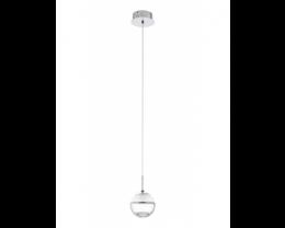 Eglo Montefio 1 LED 1 Light Chrome & Clear Glass Pendant Light