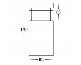 Havit HV1605-SS316 Mini 316 Stainless Steel LED Bollard Light