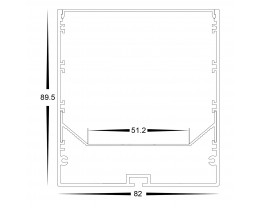 Havit HV9693-8090-WHT 3 Metre Large Deep Square White Aluminium LED Profile with Opal Diffuser