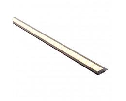Havit HV9695-2507-BLK 3 Metre Shallow Square Winged Black Aluminium LED Profile with Opal Diffuser