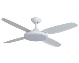 "Martec Beret 52"" (1320mm) 4 Blade Ceiling Fan with ABS Blades & 24W Tricolour LED Light"