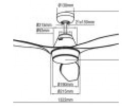 "Martec Triumph 52"" (1320mm) 3 Blade Ceiling Fan with ABS Blades & 15W Tricolour LED Light"